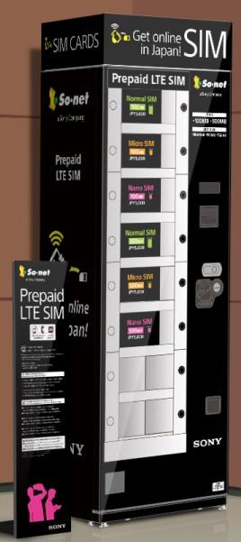 So Net推出關西國際機場自動販賣機販售『Prepaid LTE SIM』示意圖(思誠公關提供)