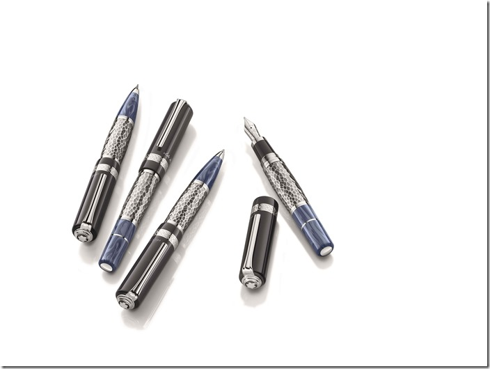 萬寶龍文學家系列列夫.托爾斯泰書寫工具,備有原子筆、鋼珠筆與鋼筆等多種款式。