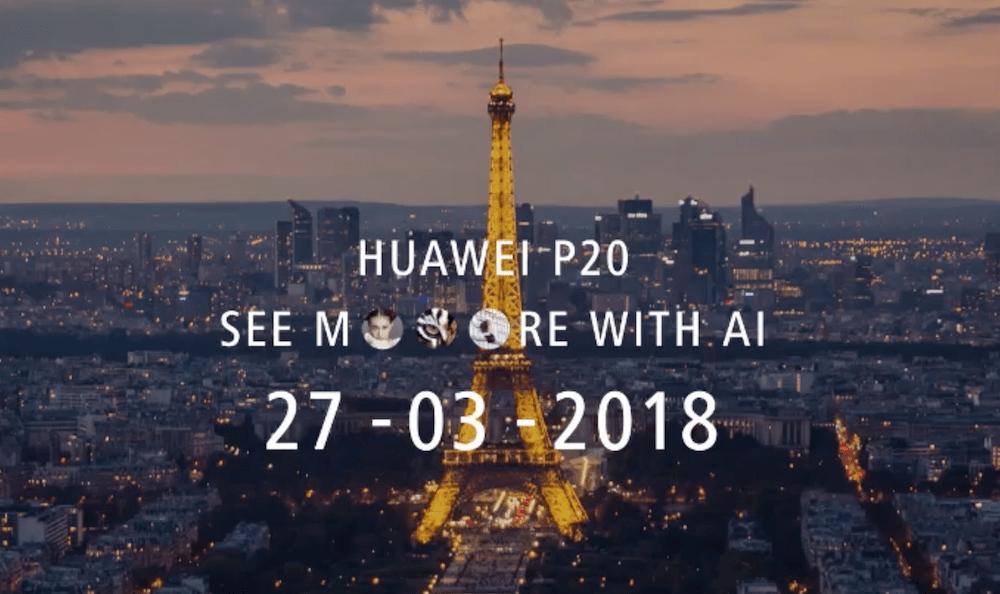 HUAWEI P20 官方宣传图曝光 揭露三镜头相机与异形全屏幕