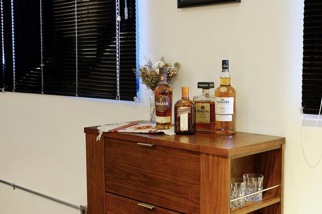 Crate and Barrel Parker Spirits Bourbon Cabinet