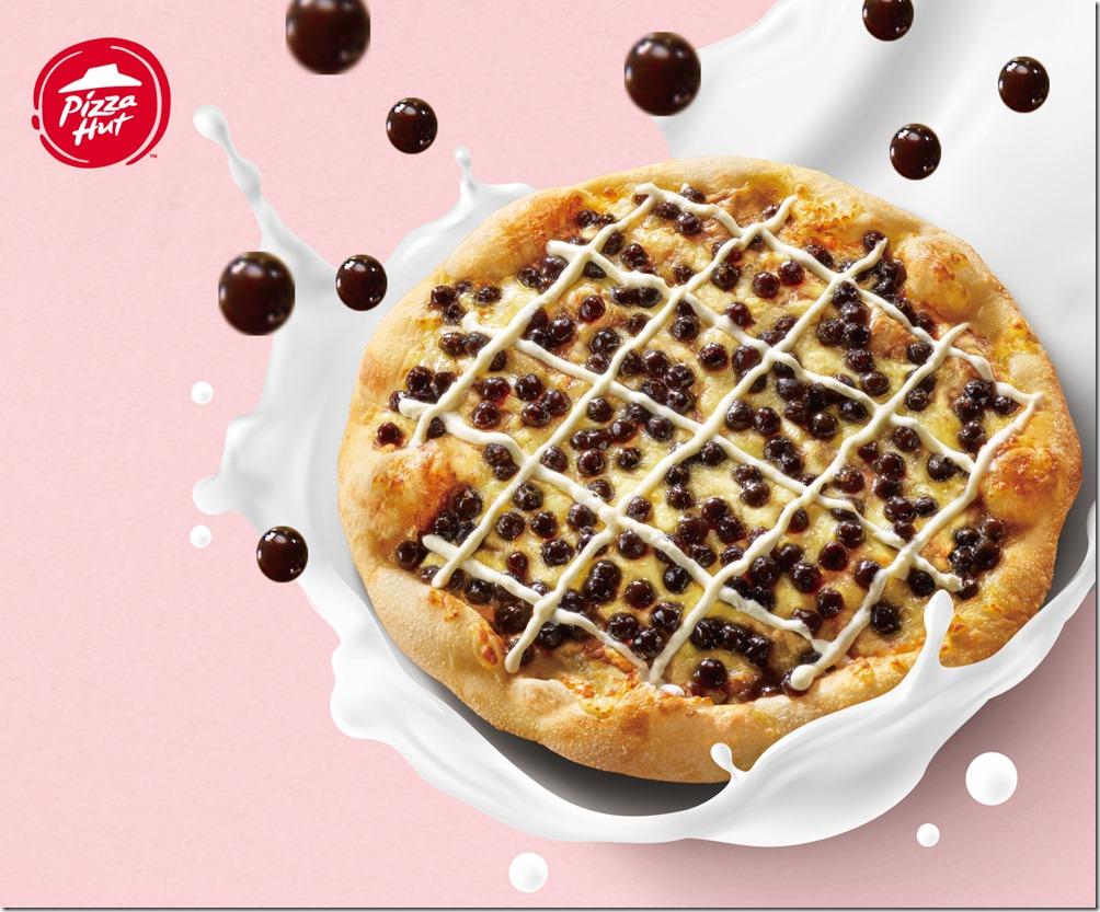 圖1:必勝客台式創意料理「QQ黑糖珍奶比薩」限時限量上市!