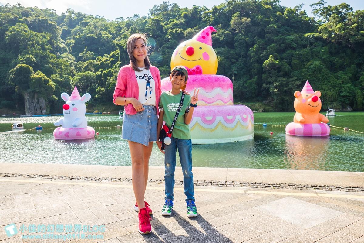 2020碧潭地景藝術「幾米 向月亮許願」/15公尺高月亮蛋糕+超萌兔子及小熊/月兔藝術大街超好拍