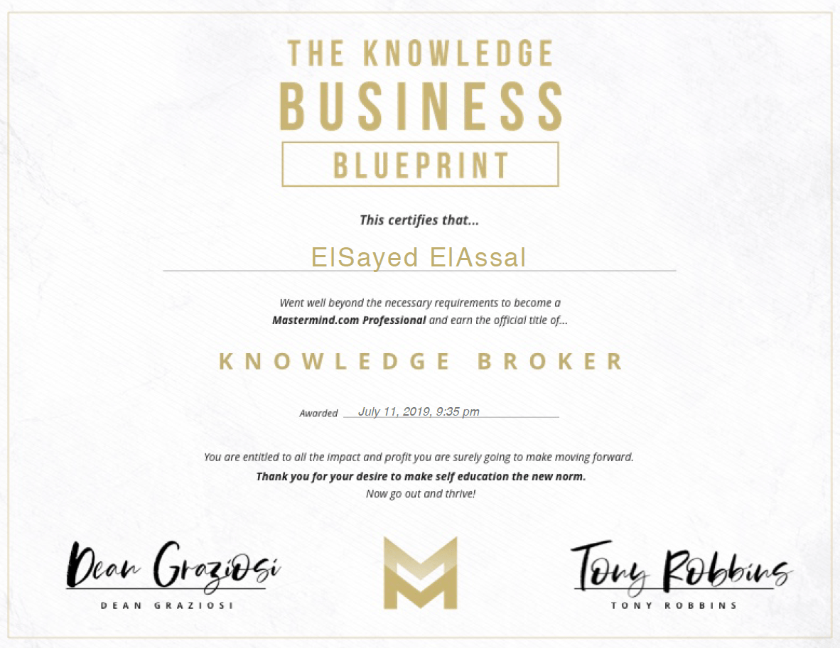 The Knowledge Business Blueprint Certificate