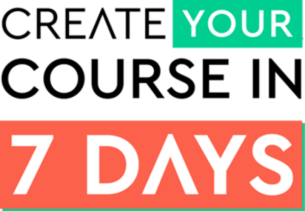 create a course in 7 days