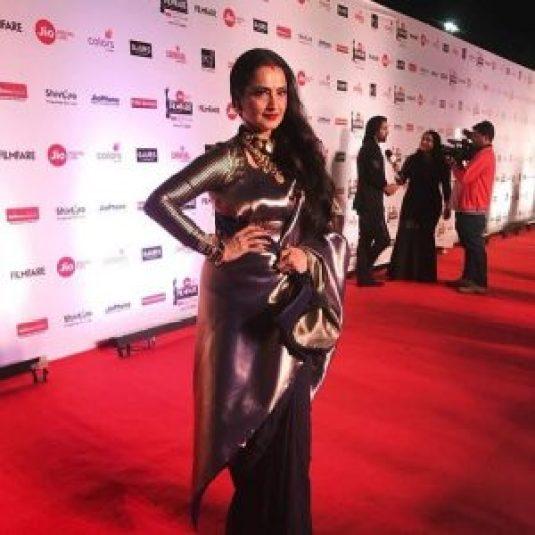 Rekha at 63rd Jio Filfare Awards 2018