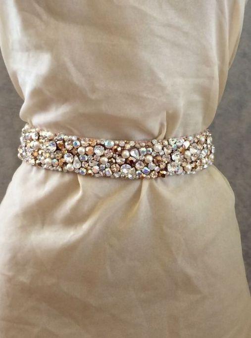 حزام عروس لإطلالة فخمة