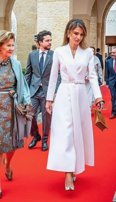 Queen Rania in a classy look from Dior