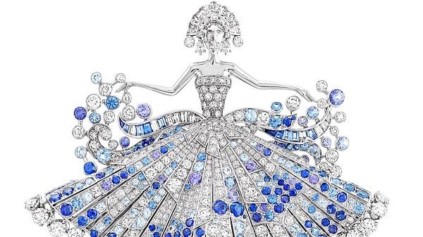 بروش من الماس والياقوت من فان كليف اند اربيلز Van Cleef & Arpels