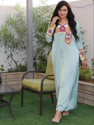 5 هيفاء حسين في جلابية يومية - الصورة من حسابها على انستجرام