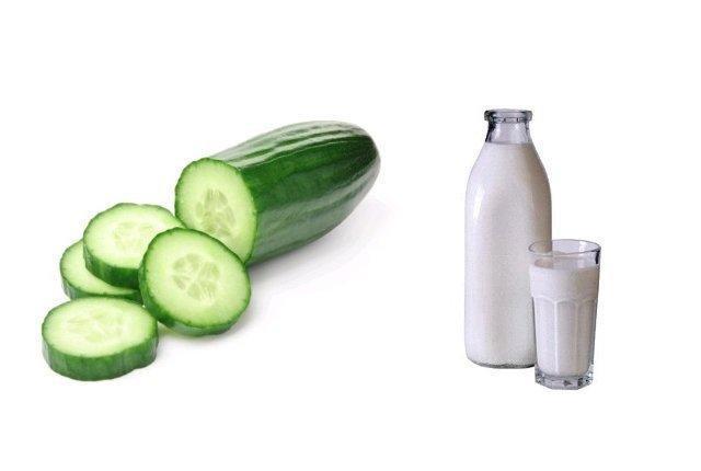 وصفة الخيار وحليب البودرة