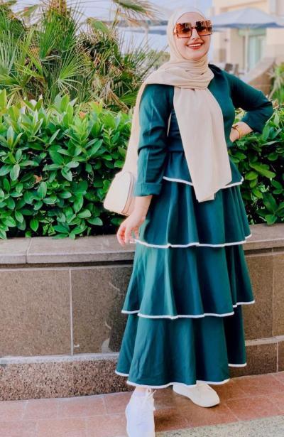 7 أميرة محمد بفستان متعدد الطبقات - صورة من حسابها على Instagram