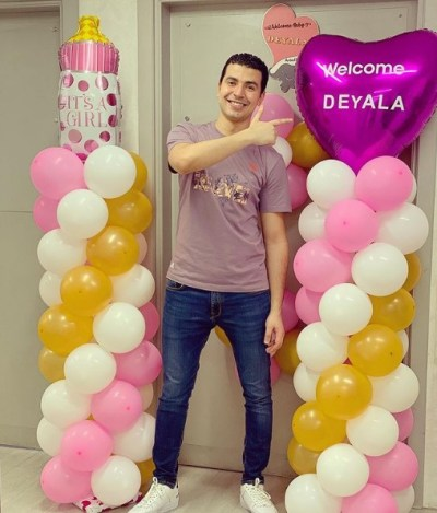 Mohamed Anwar welcomes his new daughter