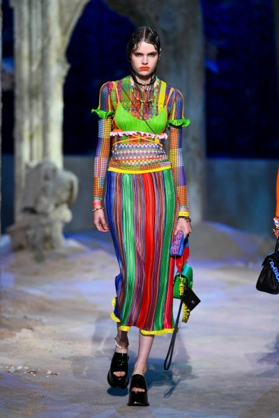 Skirt, Versace, from the Summer 2021 collection. Image via Go Runway's website.