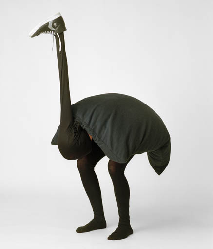 Homemade ostrich costume