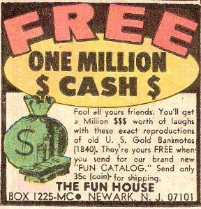 Comic Book One Million Cash