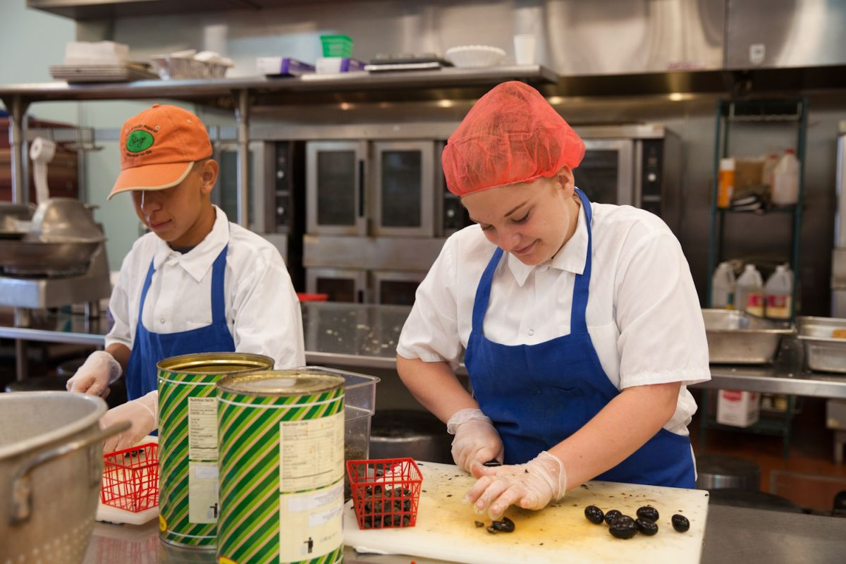 social advocates for youth summer jobs say teens learning to cook in the meals on wheels kitchen