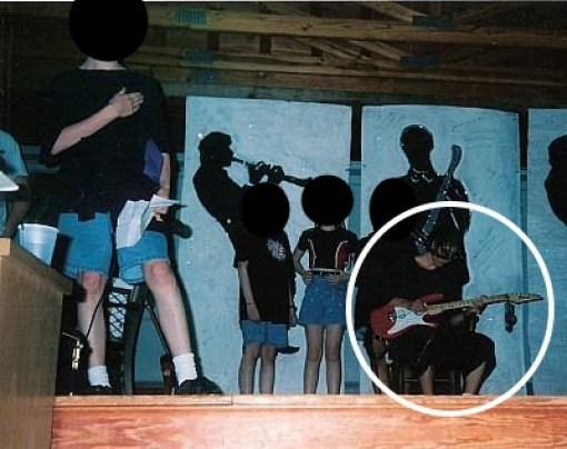 justin jamming at summer camp