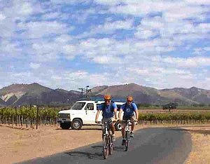 Biking Tour Van in Santa Ynez Wine Country