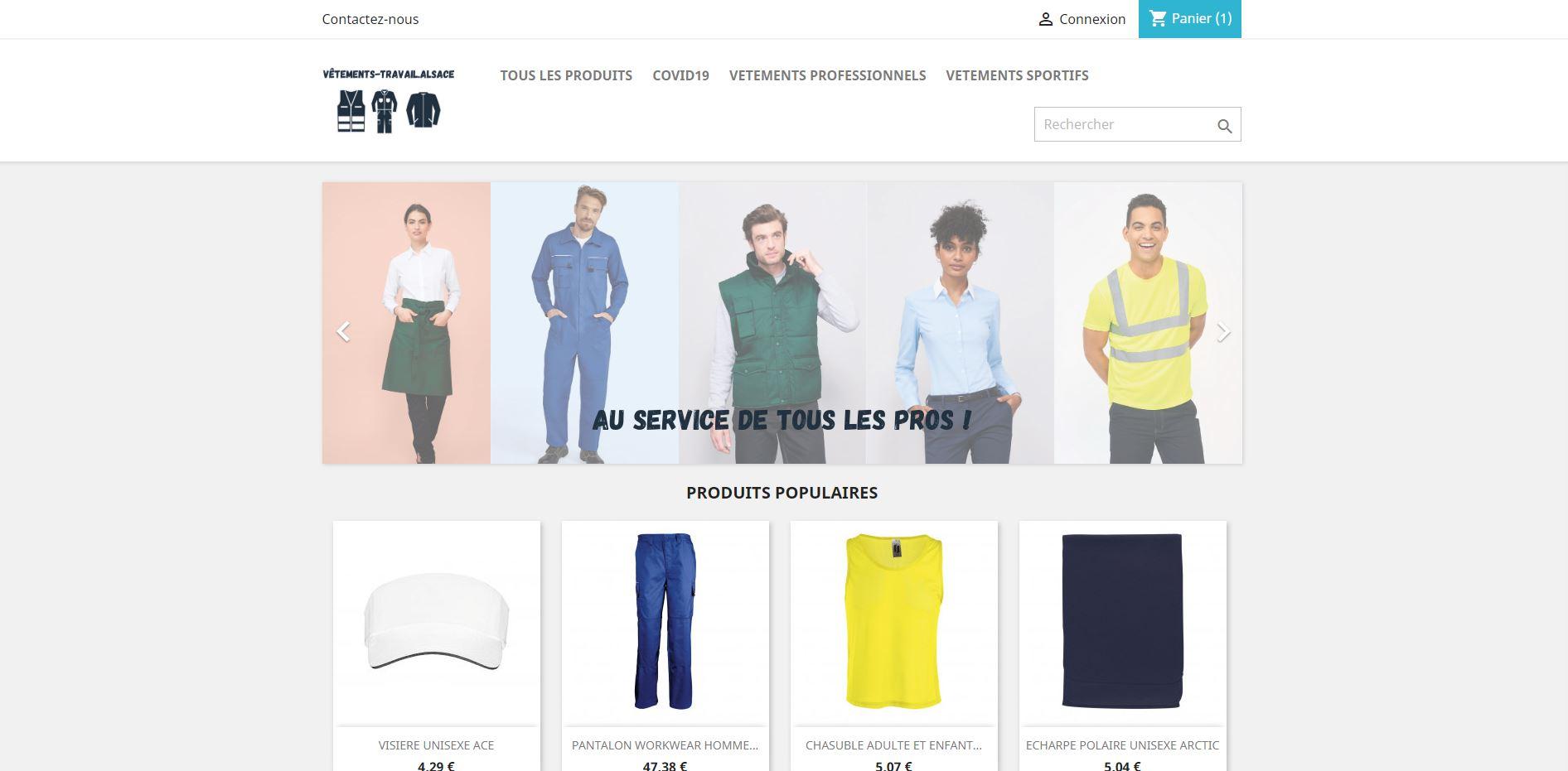 Vente de vêtements sportifs et professionnels personnalisés