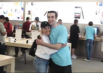 Kathy gets a hug