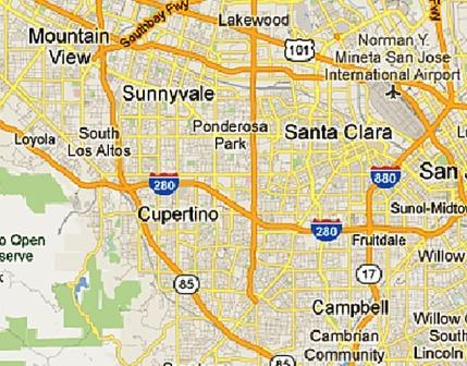 Cupertino Tutoring Map