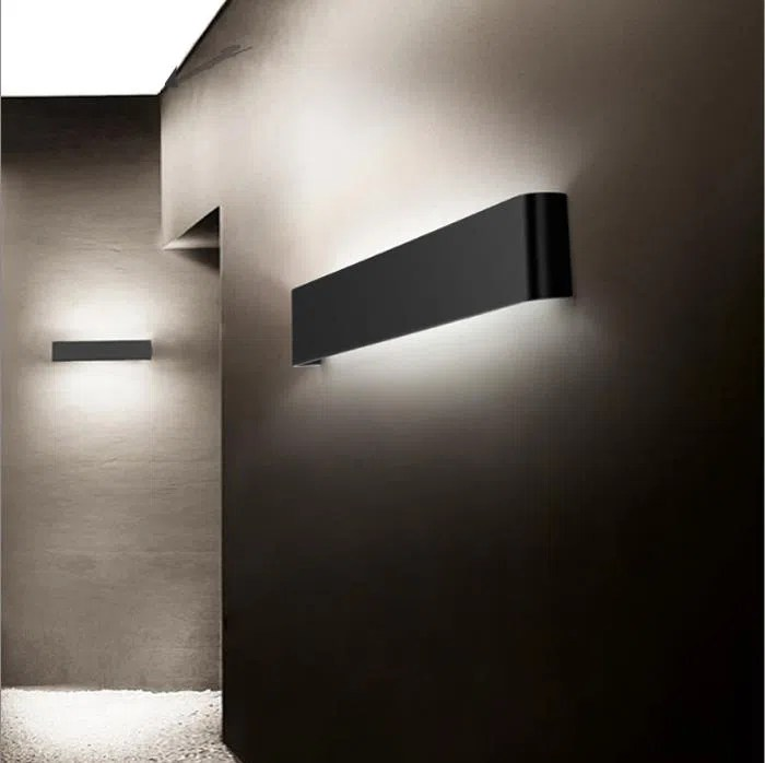 Home Depot Modern Black LED Wall Sconces Lamp Lights For ... on Modern Wall Sconces id=79258