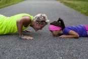 girls doing push ups
