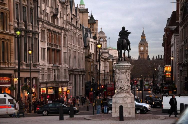 El kilómetro cero de Londres es la estatua ecuestre de Carlos I