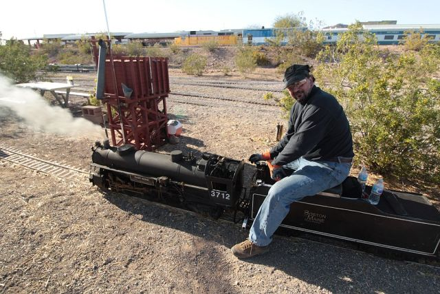 Frank Foti and his small-gauge steam engine