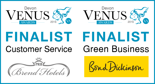 SB Holistic was a FINALIST in two categories of the 2016 Devon Venus Awards