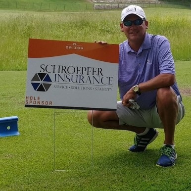 Jay Higgins - Acrisure Partner at the Schroepfer Insurance sponsered hole
