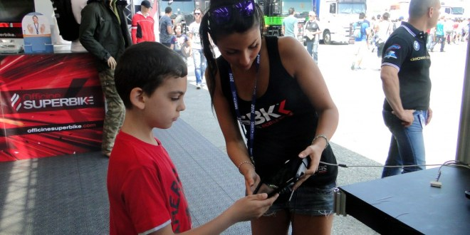 Gamers playing SBK14 at Misano