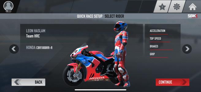 SBK Rider Selection Screen: Leon Haslam