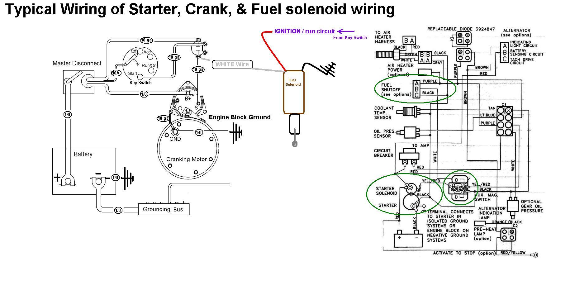 Starter Crank Amp Fuel Solenoid Wiring
