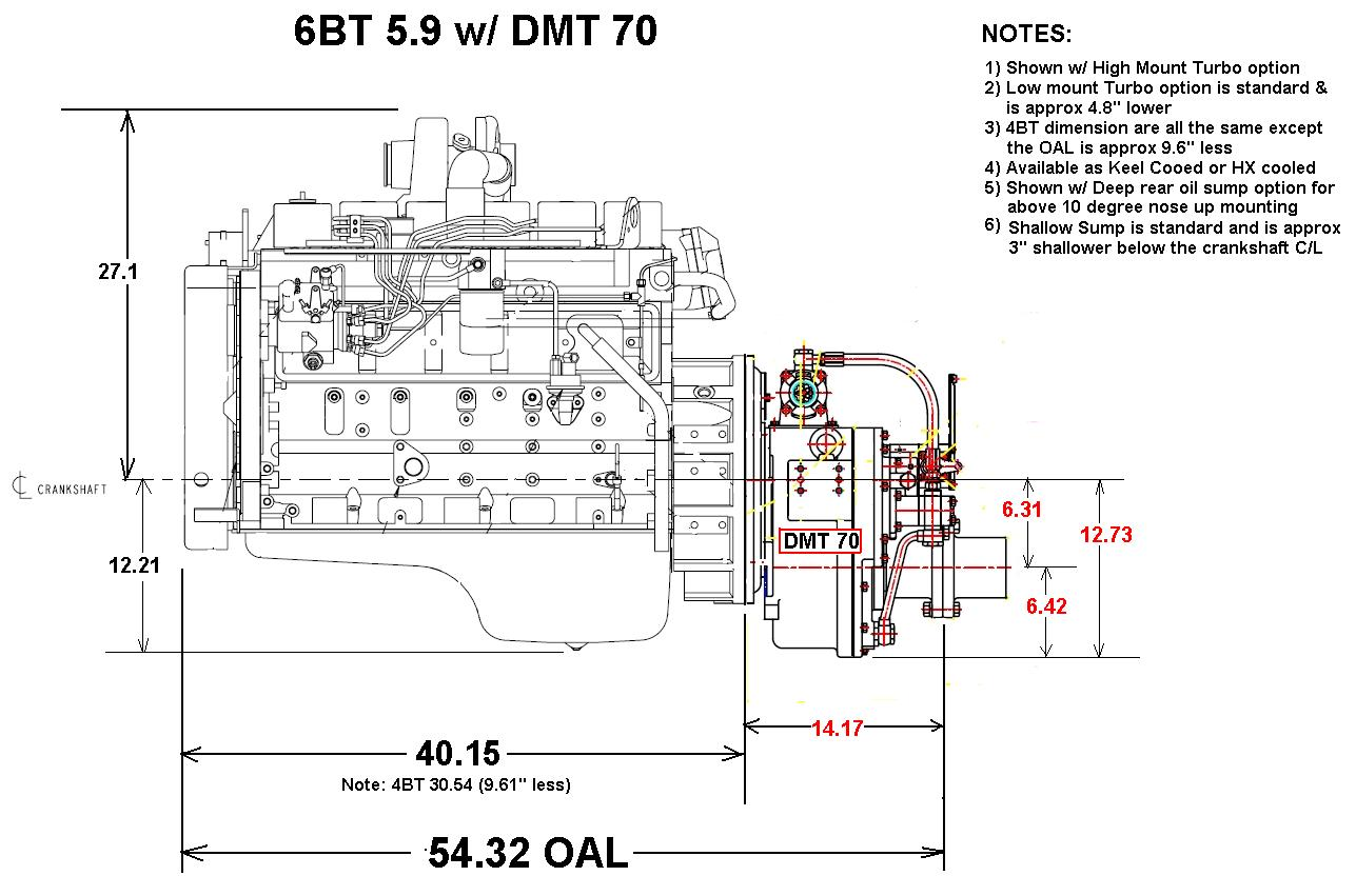 Heavy Duty Commercial Grade Cummins 6bt 210 Marine Engine Packages