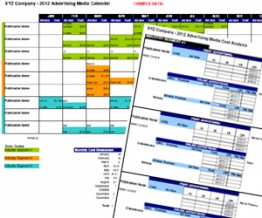 Advertising Media Plan Template for Cost Analysis and Annual ...