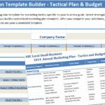 marketing plan template builder