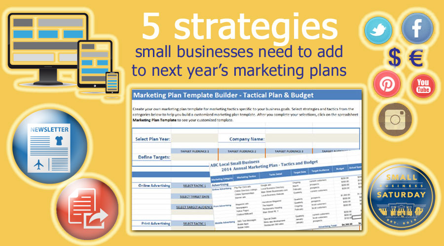 5 strategies small businesses need to add in next years marketing 5 strategies small businesses need to add in next years marketing plans small business marketing tools fbccfo Image collections