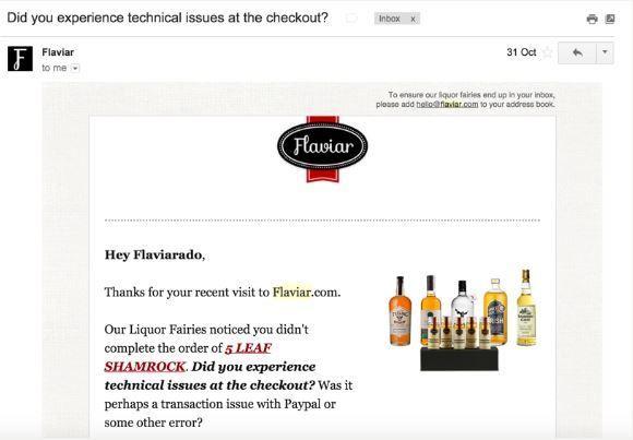 abandon checkout email