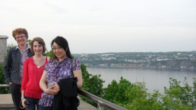 Carla, Leslie, and Jen in Quebec City, June 2011