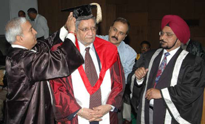 Dhalla receives Panjab University honorary degree