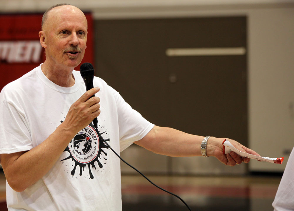 Dr. Grant Pierce at Hoops From the Heart