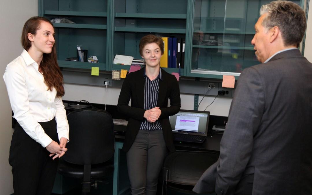 Vandal visits Cytophage Tech students