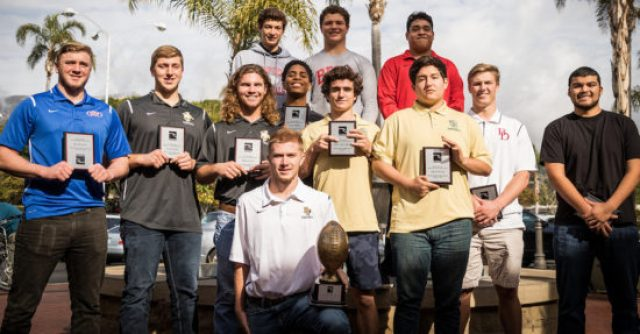 The offensive team of the Noozhawk All-South Coast Football team.