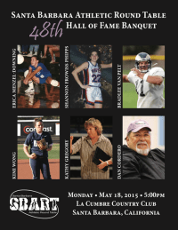 Santa Barbara Athletic Round Table 2015 Hall of Fame Banquet Cover