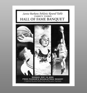Santa Barbara Athletic Round Table 2000 Hall of Fame Banquet Cover