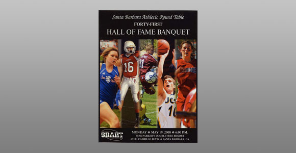 Santa Barbara Athletic Round Table 2008 Hall of Fame Banquet Cover