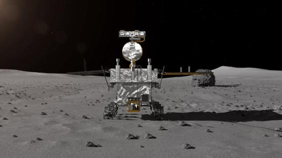 An artist impression of the rover for China's Chang'e-4 lunar probe