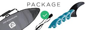Bag, Fins, Leash