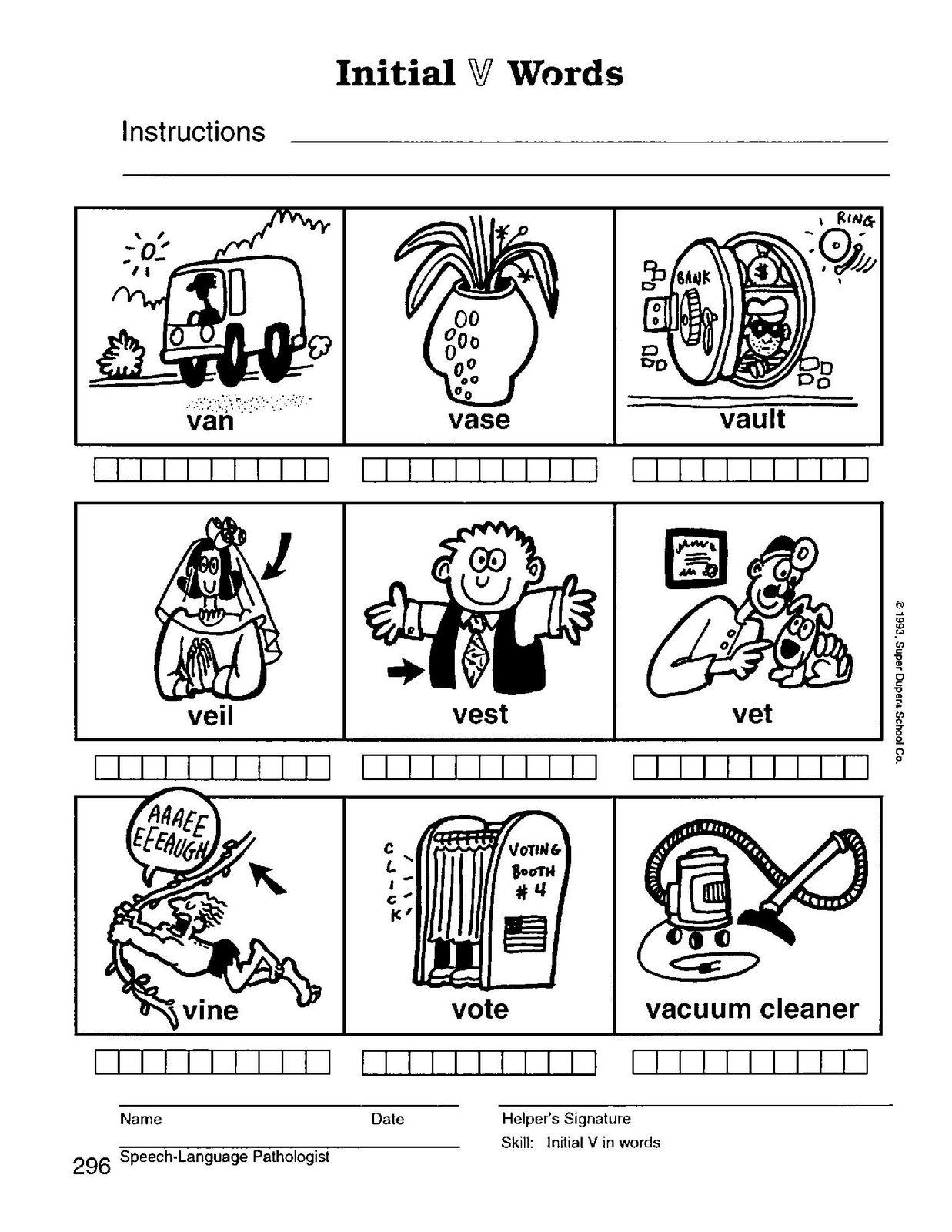 Speech Therapy Final Consonant Deletion Cvc Words Activity